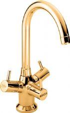 Brita Sturana filtered kitchen tap in Dorato 24ct Gold